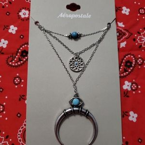 Aeropostale Moon Necklace, NWT